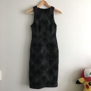 Banana republic Wool Plaid Sleeveless Dress Lined